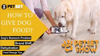 PetSet Show || How to Give Dog Food || How to Settle a Dog's Stomach || Ammad Cheema