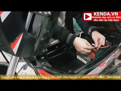 Hướng dẫn cách Thay lắp ắc quy xe máy điện XMEN 5 bình đạt tiêu chuẩn