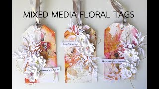 Mixed Media Floral Tag Trio | Handmade Gift Tags
