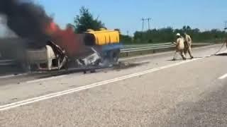 Пожар на трассе Курсавка-Георгиевск