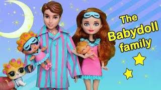 LOL Families ! The Babydoll Family Bedtime Routine | Toys and Dolls Pretend Play for Kids | SWTAD