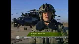 Mi-24G Super Hind Helicopters of Azerbaijan Air Forces - military exercise with shooting