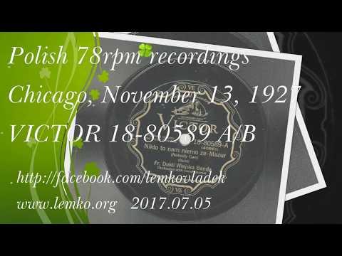 Polish 78rpm recordings, 1927. Victor 18-80589 A/B. Nikto nam nie może {Nobody can} -mazurka