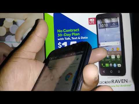 Wipe data Factory Reset from phone settings Alcatel RAVEN LTE