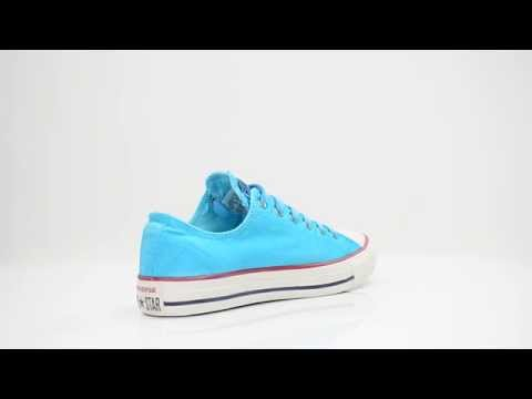 CONVERSE ALL STARS LADIES SHOES WHITEWASH OX LOW PEACOCK