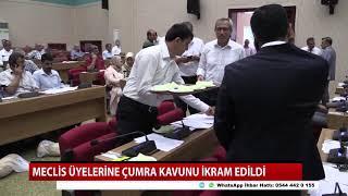 Çumra kavunu Büyükşehir Belediye Meclisinde ikram edildi