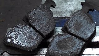 Ferodo DS2500 brake pads after 50 laps on the Nordschleife