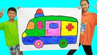 Giant ambulance, Belajar Menggambar dan Mewarnai untuk Anak