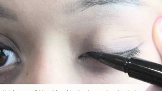 NYX Felt Tip Pen Winged Eyeliner Makeup Tutorial