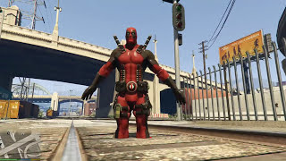 GTA 5 Deadpool Mod - Dị nhân Deadpool xuất hiện trong GTA 5