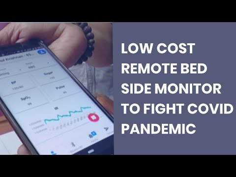 Low cost remote bed side monitor
