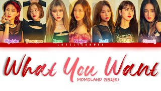 MOMOLAND (모모랜드) – What You Want Lyrics (Color Coded Han/Rom/Eng)