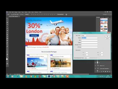PSD to HTML email    Slice PSD to html in photoshop