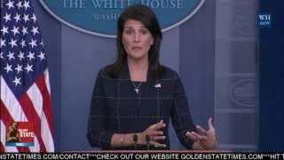 UN Ambassador Nikki Haley Speaks Regarding New Security Council that decides Sanctions; North Korea