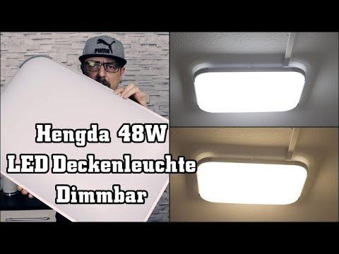 Hengda 48W LED Deckenleuchte Dimmbar   Deckenlampe    Tageslichtlampe mit Fernbedienung