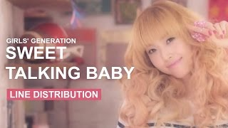 Girls' Generation - 뻔&Fun (Sweet Talking Baby) - Line Distribution