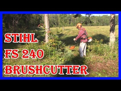 STIHL FS240 BRUSHCUTTER REVIEW – 10 INCH RENEGADE  BLADE –  AT MY OFF GRID NORTHERN CAMP.