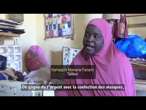Du coton molletonné pour la confection de masques réutilisables au Niger