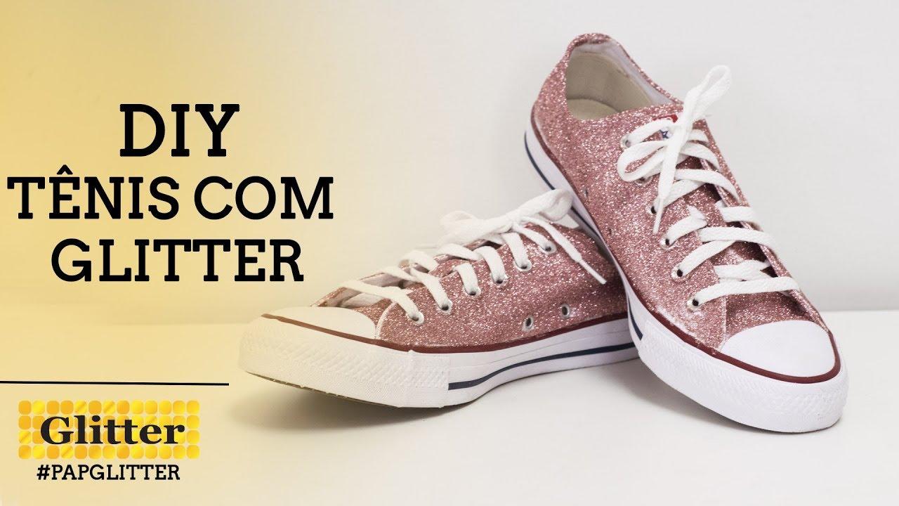 DIY | Tênis com Glitter
