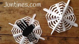 Tela de araña de papel para Halloween