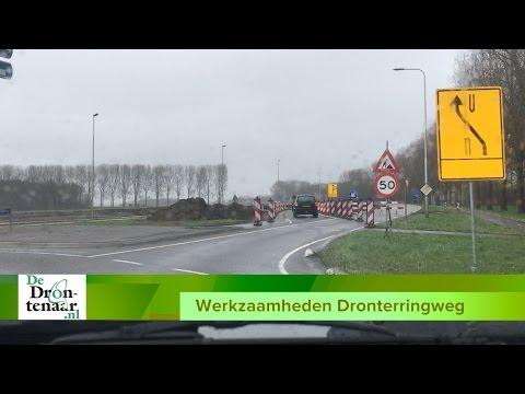 VIDEO | Zuidelijke rijbaan van de Dronterringweg is sinds vannacht gesloten