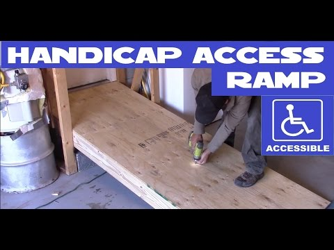DIY Handicap / wheelchair access ramp