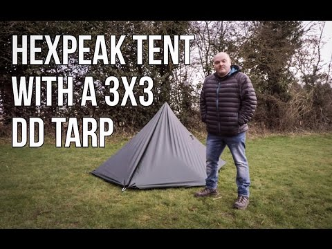 How to make a Hexpeak Tent with a 3m x3m  DD Tarp setup
