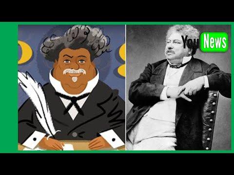 Today's Google Doodle celebratest work of Alexandre Dumas.