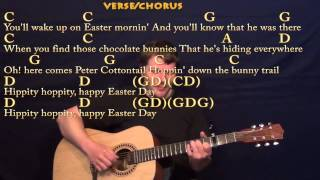 Peter Cottontail (Gene Autry) Easy Guitar Fingerstyle Cover Lesson Capo 3rd Fret