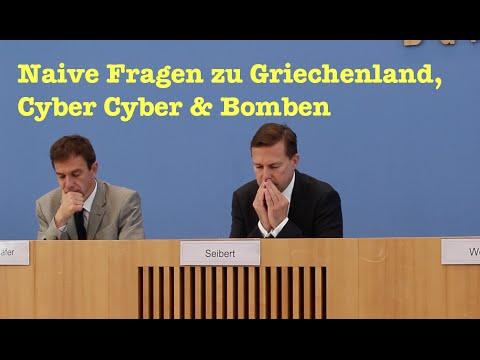 Naive Fragen zu Griechenland, Cyberangriff, VDS, Irans Bombe & US-Bomben in Libyen