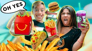 LETTING The Person In FRONT Of Me Decide What We Eat! *24 Hours Challenge* | The Royalty Family