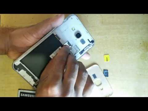 Samsung Galaxy J7 Testing How to insert the Sim card   Dual Micro SIM   Memory Card  Mobile Tutorial