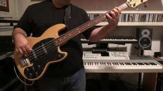 Bass Cover - The Buggles - Video Killed The Radio Star - with Wal Pro IIE fretless bass