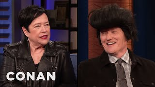 Kathy Bates Brought Conan An Elvis Wig - CONAN on TBS