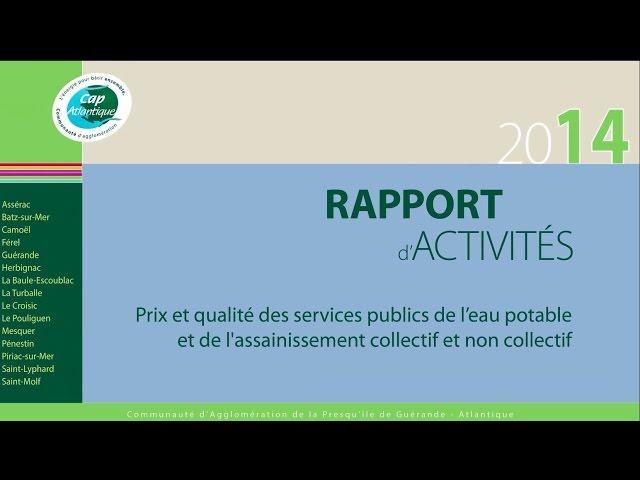 Rapport annuel 2014 sur le prix et la qualité des services publics de l'eau et de l'assainissement