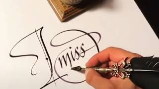 "How to write ""I MISS YOU"" in a beautiful handwriting........"