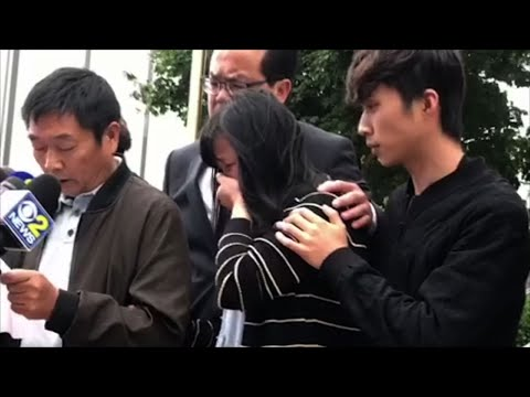The family of a Chinese scholar who was abducted and killed was distraught at a news conference following the conviction of the suspect on Monday. The family's lawyer said the family can't imagine how they will live their lives without her. (June 24)