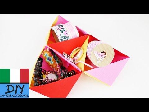 Origami super veloce per la vostra scrivania | scatola contenitore | Ritorno a scuola