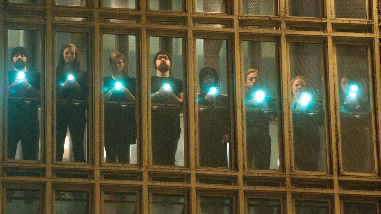 Grand Central Terminal Gets Impromptu LED Light Show