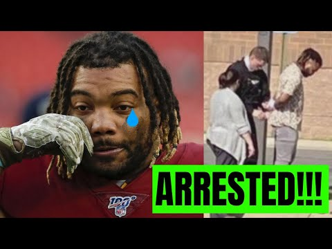 NFL RB Derrius Guice Released By Washington After Being ARRESTED For Domestic Violence!