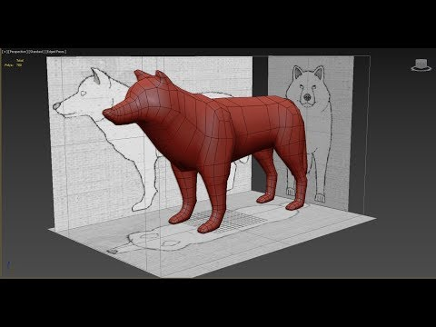 Autodesk 3ds Max Dog modeling -Low Poly