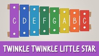 How to play Twinkle Twinkle Little Star on a Xylophone - Easy Songs - Tutorial