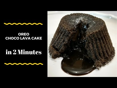 Instant Oreo Choco Lava Cake in 2 minutes - Recipe by Cooking with Smita | Eggless Choco Lava Cake