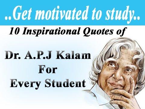 10 Inspirational Quotes of Dr. A.P.J Kalam