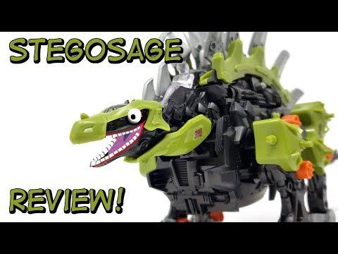 Zoids Wild Stegosage Unboxing, Build and Review - смотреть