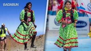 Corredora indígena gana medalla en Europa. Usó vestido