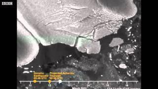 Japan tsunami causes Antarctic glacier to break Video BBC News