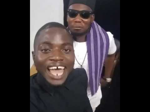 QDOT ALAGBE with Khalid Ayanshina  doing a freestyle at GINI TV visual recording studio