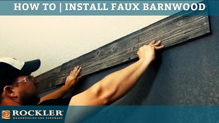 How To Install Faux Barnwood