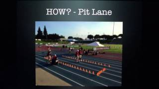 Racewalking - How the pit lane works